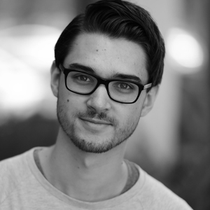 A speaker photo for Dominik Schiener